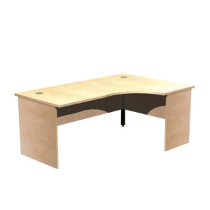 Panel Leg Desk Workstations – Right Hand Crescent