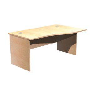 Panel Leg Desk Workstations – Right Hand Wave