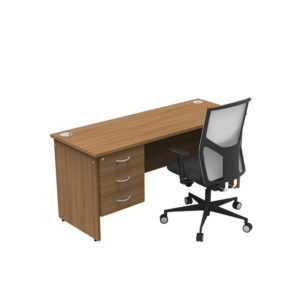 Colorado Compact Teachers Desk – 3 Drawers