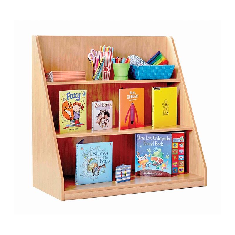 Straight shelf library unit