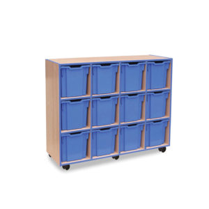 Coloured Edge Storage – 12 Jumbo Tray Unit