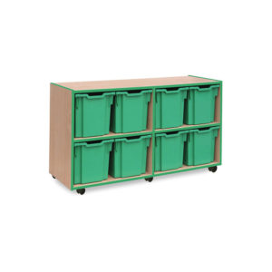 Coloured Edge Storage – 8 Jumbo Tray Unit