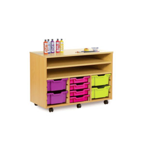 Art Room Storage – Wide Combination Shelf Unit