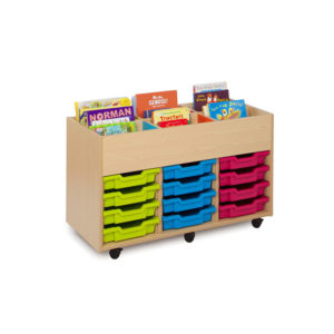 The Candy Colours Range – 6 Bay Kinderbox Trays Unit