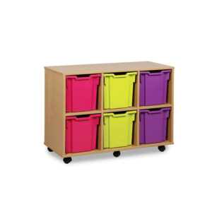 Jumbo Storage Units – 6 Jumbo Wide Tray Unit