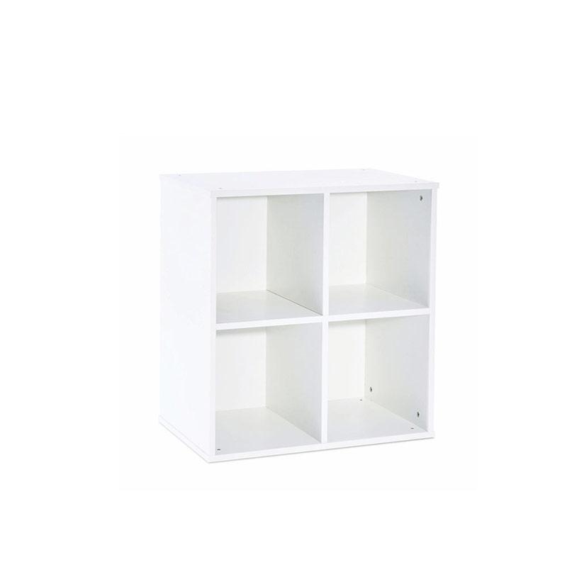 Stackable White Storage – 4 Squares Unit
