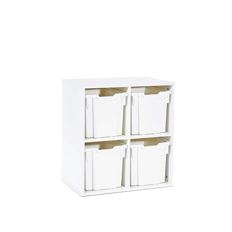 Stackable White Storage – 4 Jumbo Tray Unit