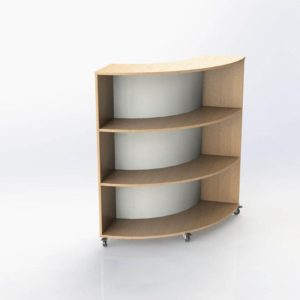 Grasmere Curved Bookcase