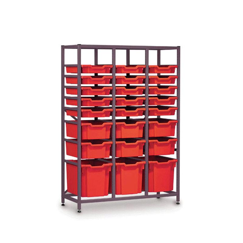 TecniStor Metal Storage – 3 x jumbo, 6 x deep, 15 x shallow