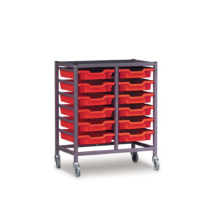 TecniStor Mobile Metal Trolleys – 2 column tray unit