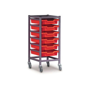 TecniStor Mobile Metal Trolleys – 1 column tray unit