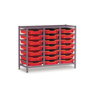 TecniStor Static Low Storage Units – 3 column static tray unit