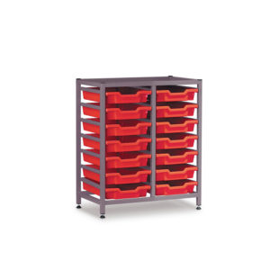 TecniStor Static Low Storage Units – 2 column static tray unit