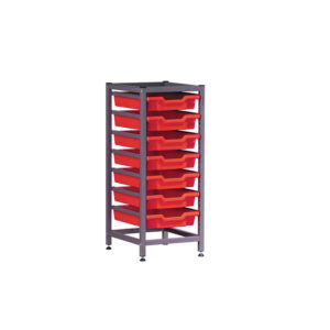 TecniStor Static Low Storage Units – 1 column static tray unit