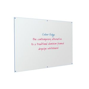 Coloured Edged Frameless Whiteboard