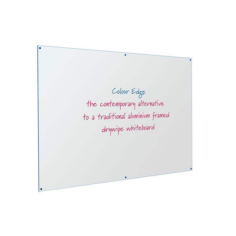 Coloured Edged Frameless Whiteboard