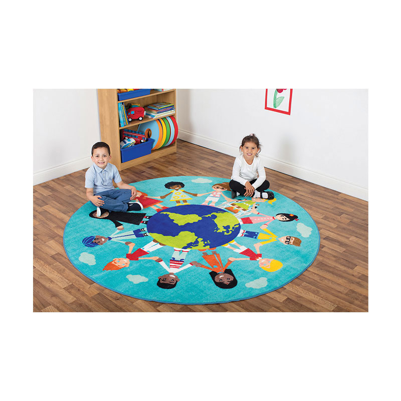 Primary World Multi-Cultural Rug