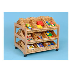 Classroom Tidy Trolleys – Double-sided tidy trolley