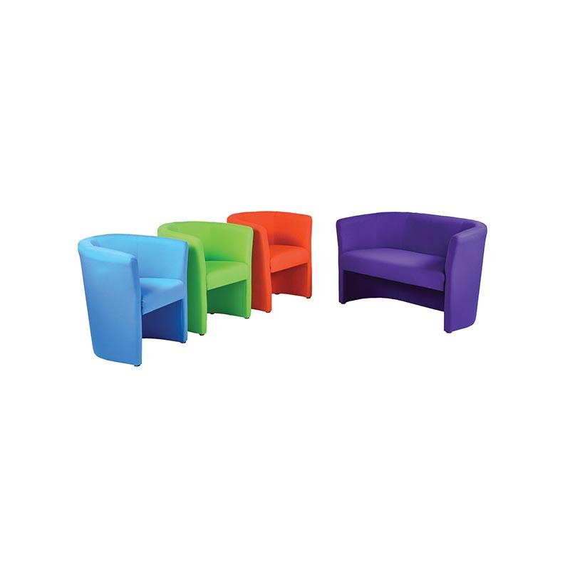 Retro Fabric Tub Chair