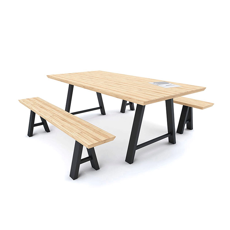 Galway Meeting Table/Bench – Solid Oak