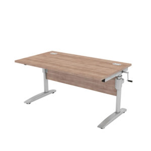 Orbit Height Adjustable Rectangular Desk
