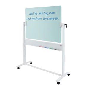Revolving Glass Whiteboard 1200x900mm