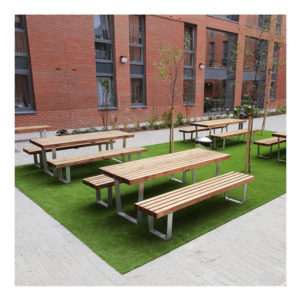 Tamworth Outdoor Table & 2 Benches Set