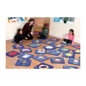 Alphabet Mini Placement Rugs