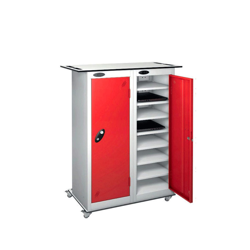 16 Compartment Mobile Charge Locker Trolley