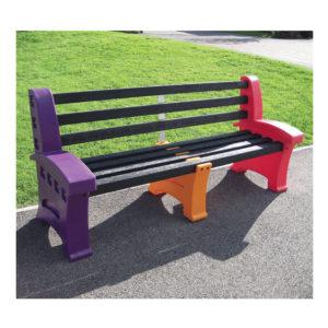 Multicoloured seat