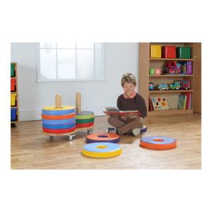 Plain Colourer Donut Cushion Trolleys