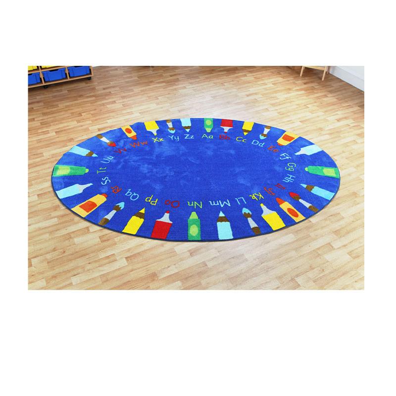 Oval Pencils Alphabet Carpet