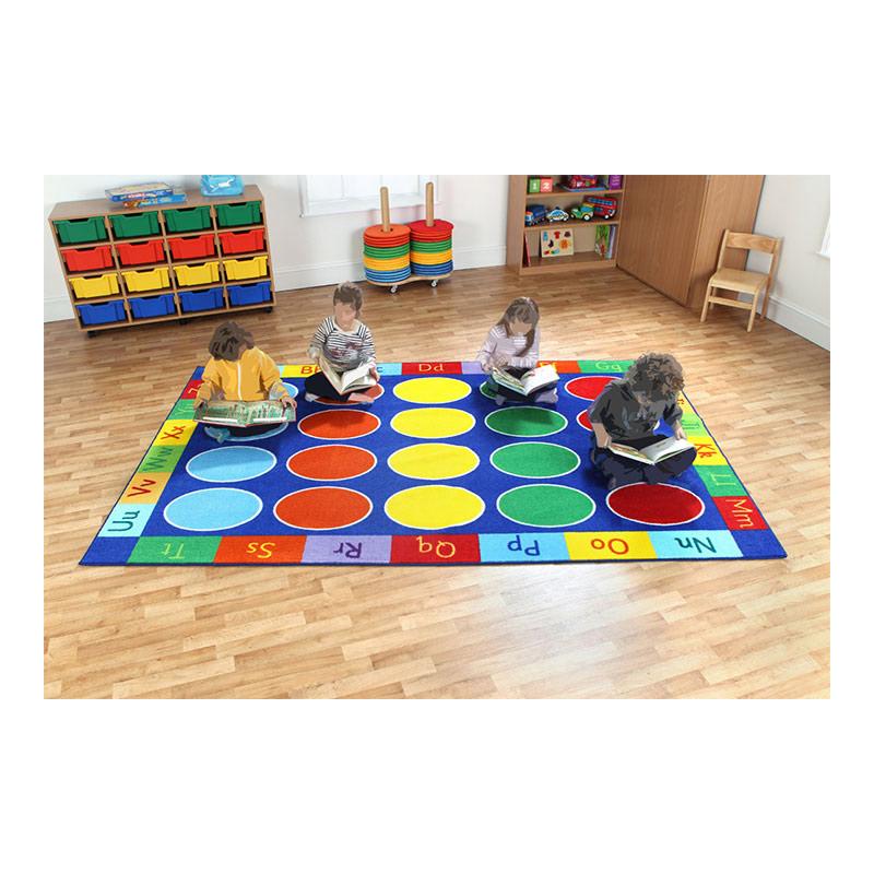 Rainbow ABC Rectangular Carpet