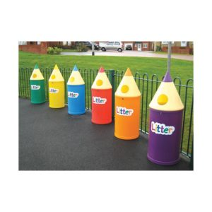 Pencil Bin with 'Litter' Letters