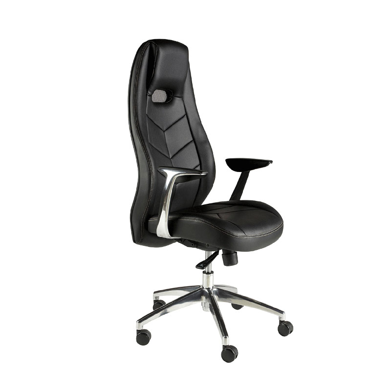 Racer Black Leather Look Managers Chair