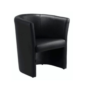 Retro Leather Tub Chair