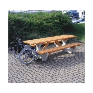 Cotswold Rectangular Picnic Tabel with Wheelchair Access