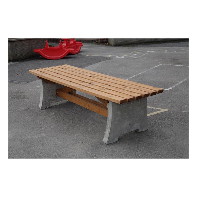 Cotswold Concrete & wood bench (no back)