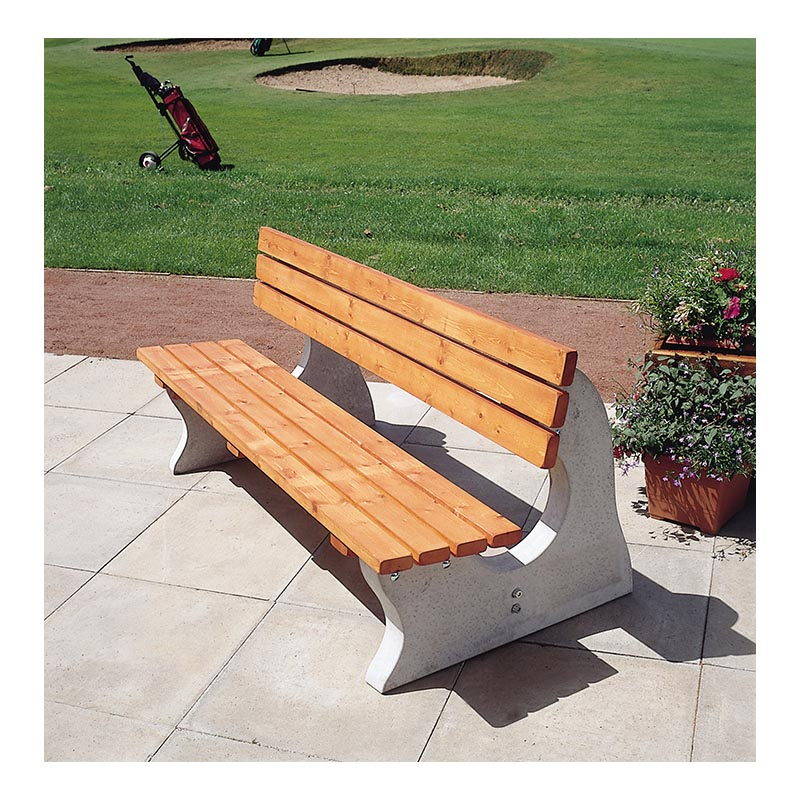 Cotswold Park Bench ( With back)