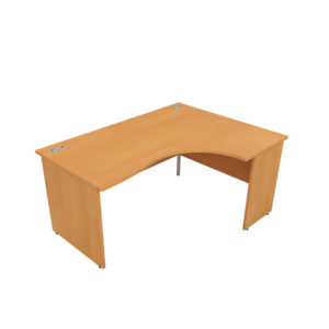 Orbit Panel Leg Desks – Crescent (Left Hand)