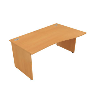 Orbit Panel Leg Desks – Wave Desk (Left Hand)