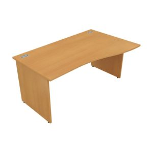 Orbit Panel Leg Desks – Wave Desk (Right Hand)
