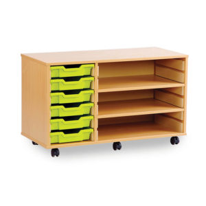 6/8 Tray Wide Unit – 2 Adjustable Shelves