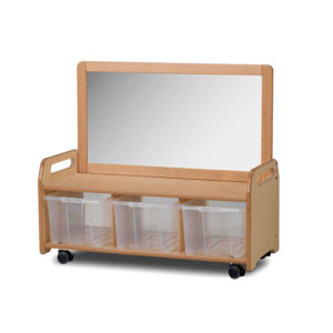 Low Storage Unit with Mirror Panel