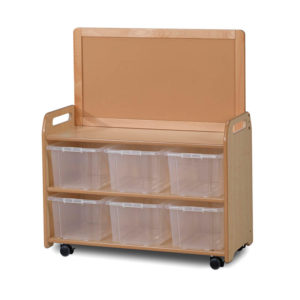 Mobile Medium Storage Unit with Display Top Panel – Tubs