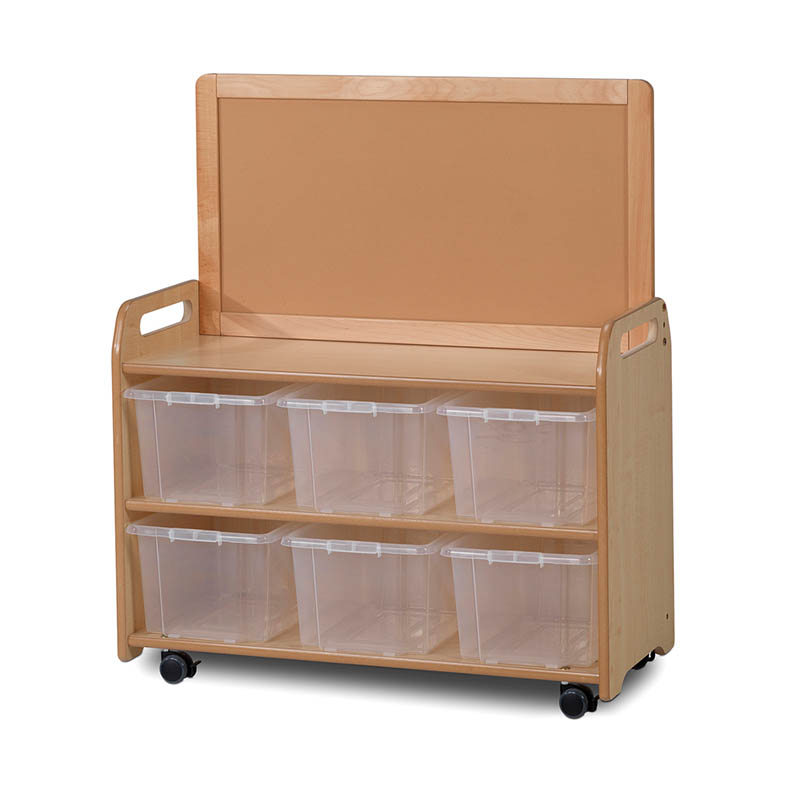 Mobile Medium Storage Unit with Display Top Panel – Tubs