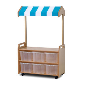 Mobile Storage Unit with Shop Canop Add-on