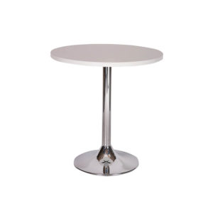 Carafe table – Chrome Trumpet Dining Base
