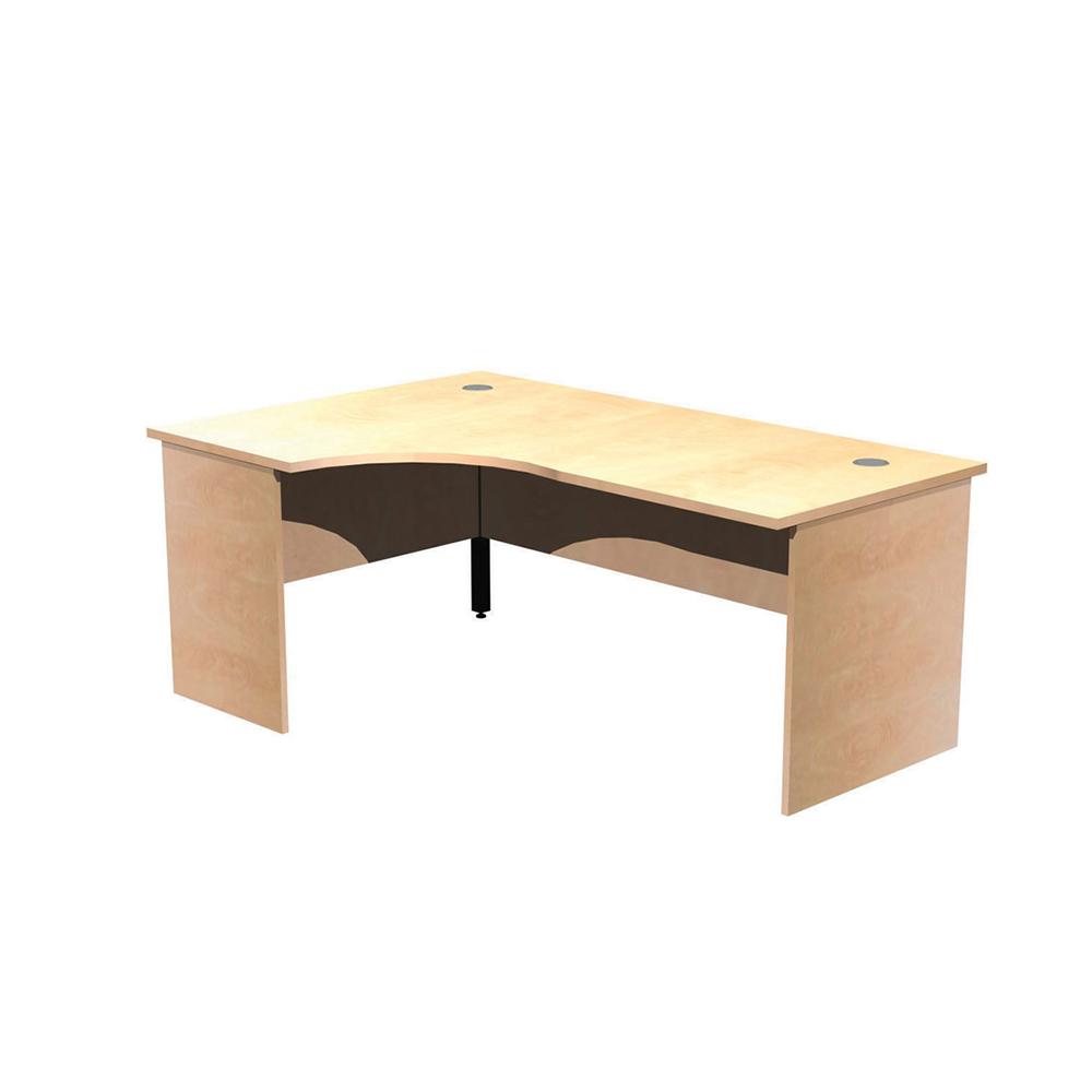 Panel Leg Desk Workstations – Left Hand Crescent