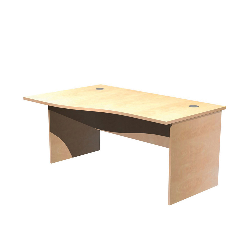 Panel Leg Desk Workstations – Left Hand Wave